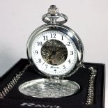 Pocket Watch, Personalised Engraved Skeleton Mechanical ref PWRC